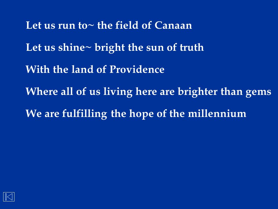 Let us run to~ the field of Canaan