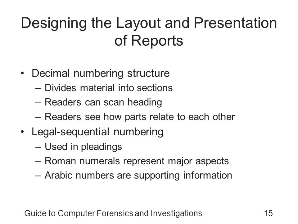 Designing the Layout and Presentation of Reports