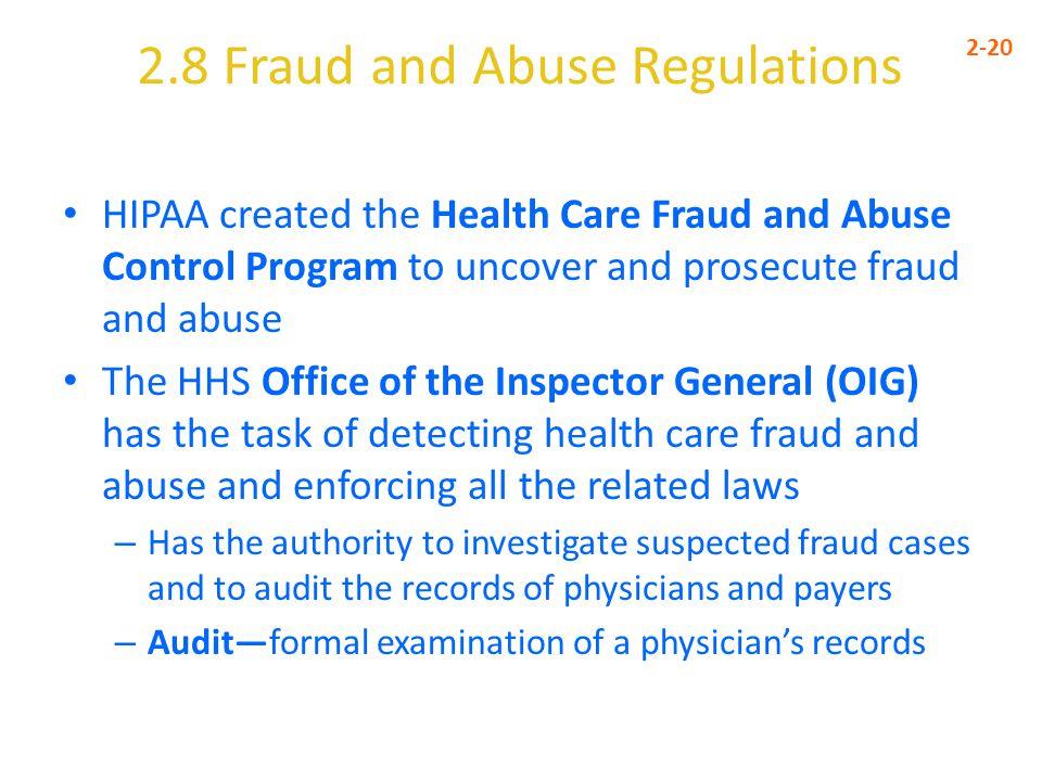 2.8 Fraud and Abuse Regulations