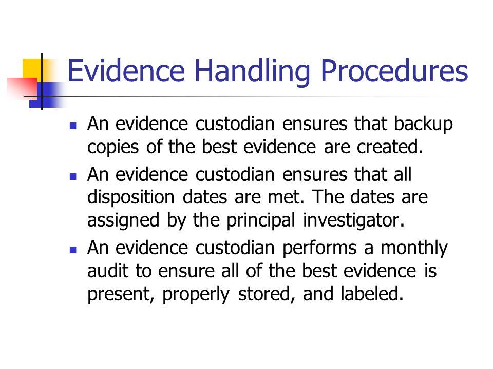 Evidence Handling Procedures