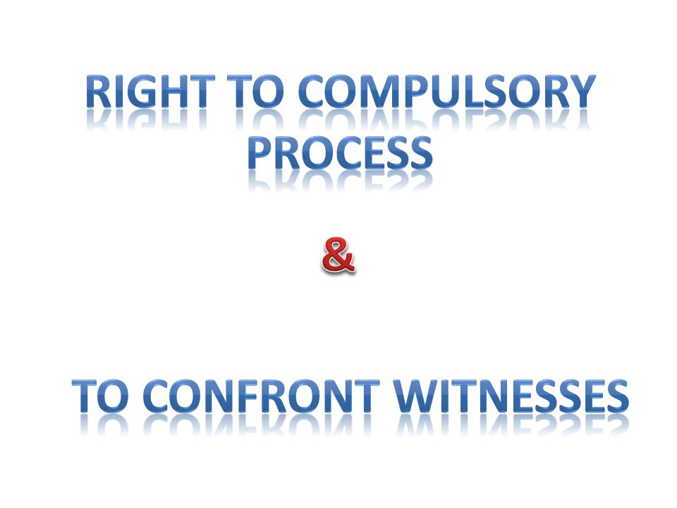 Right to Compulsory process
