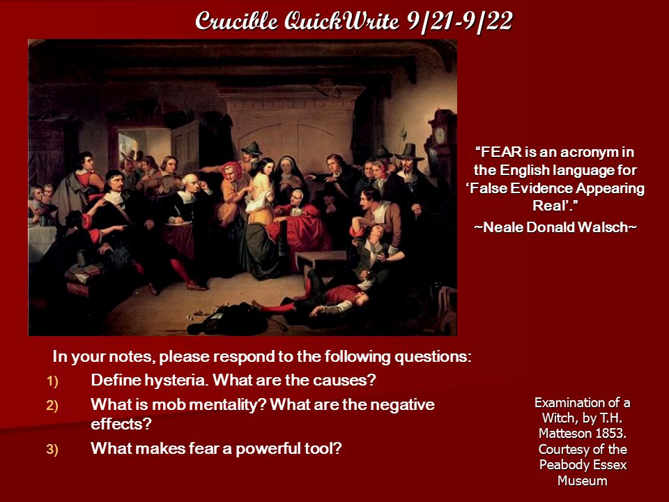 Crucible QuickWrite 9/21-9/22