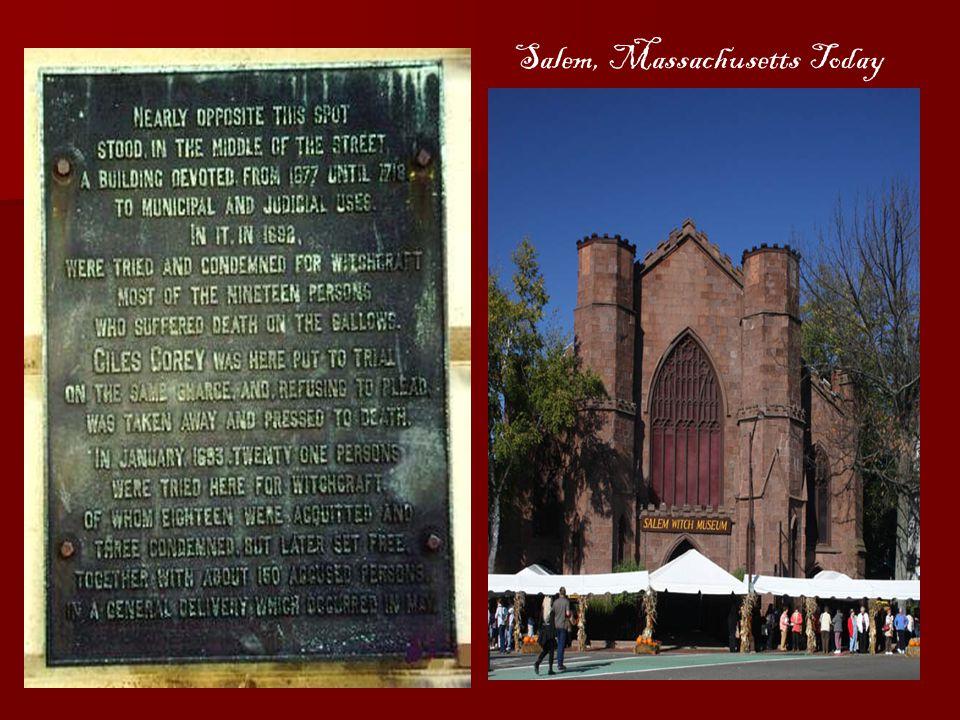 Salem, Massachusetts Today