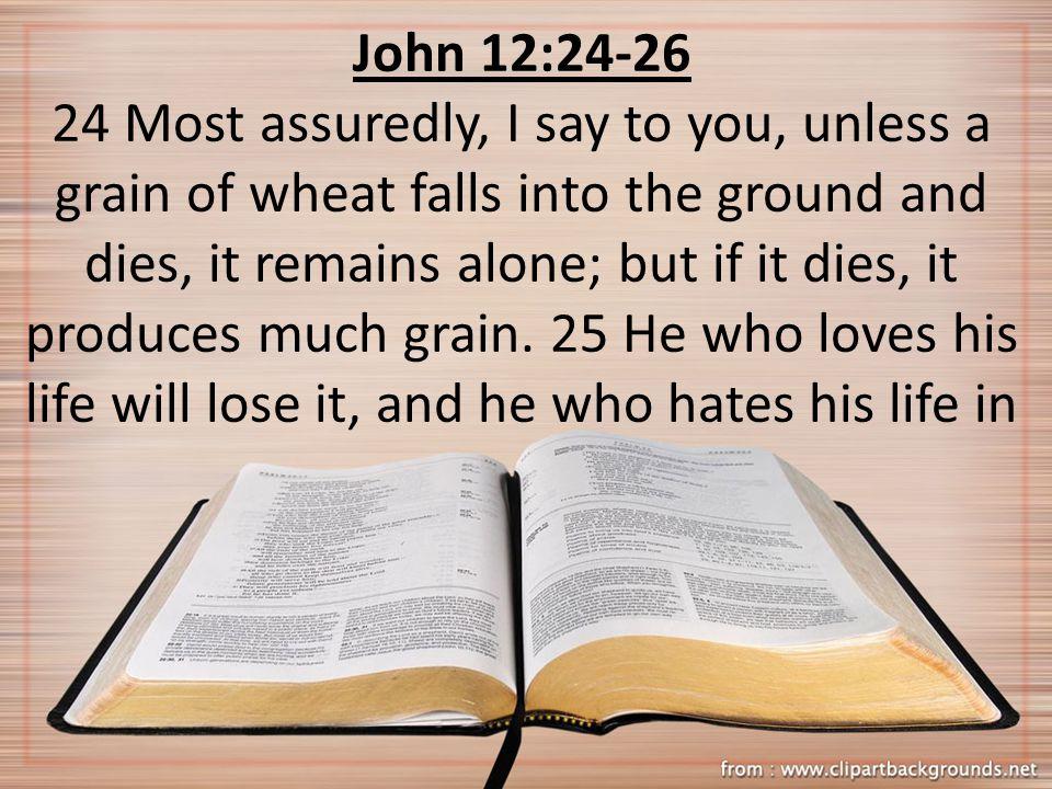 John 12:24-26