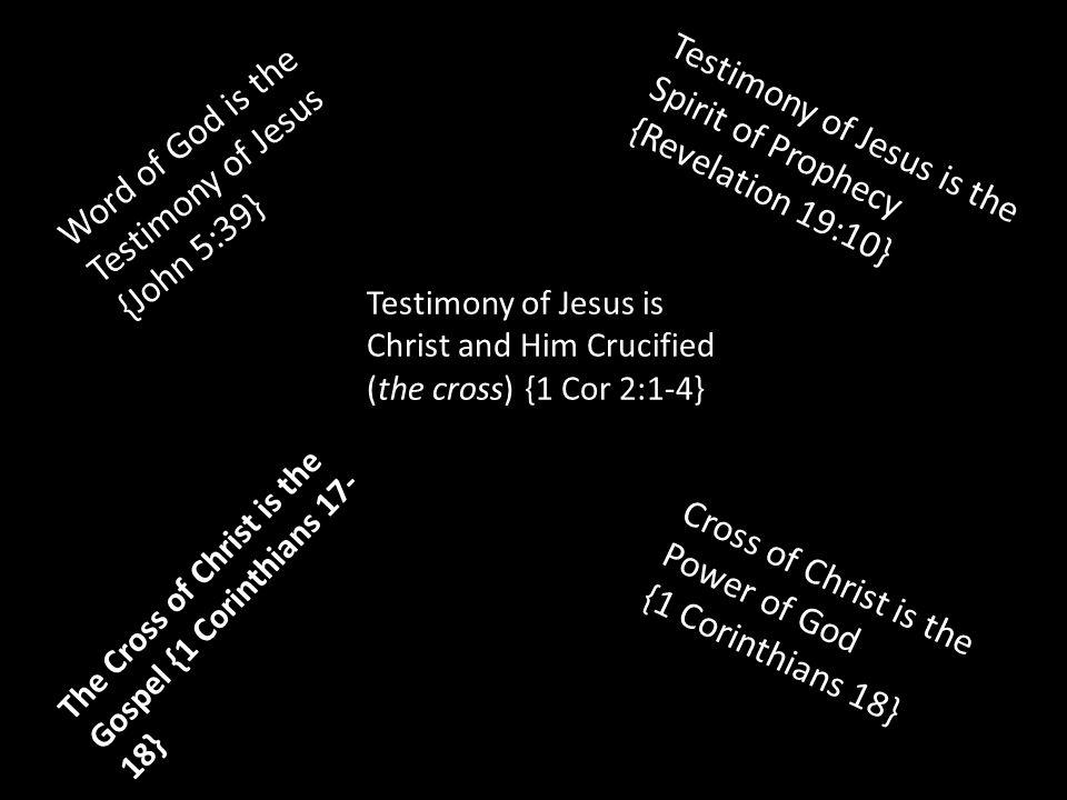 Word of God is the Testimony of Jesus {John 5:39}