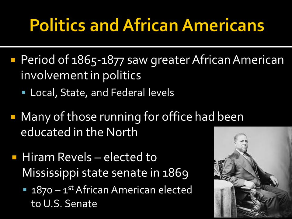 Politics and African Americans