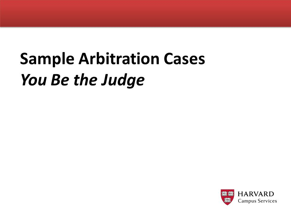 Sample Arbitration Cases