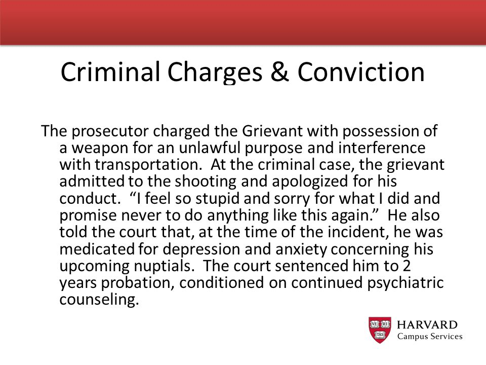 Criminal Charges & Conviction