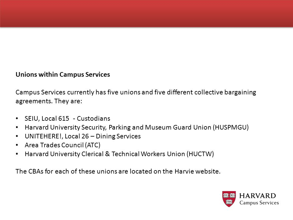 Unions within Campus Services