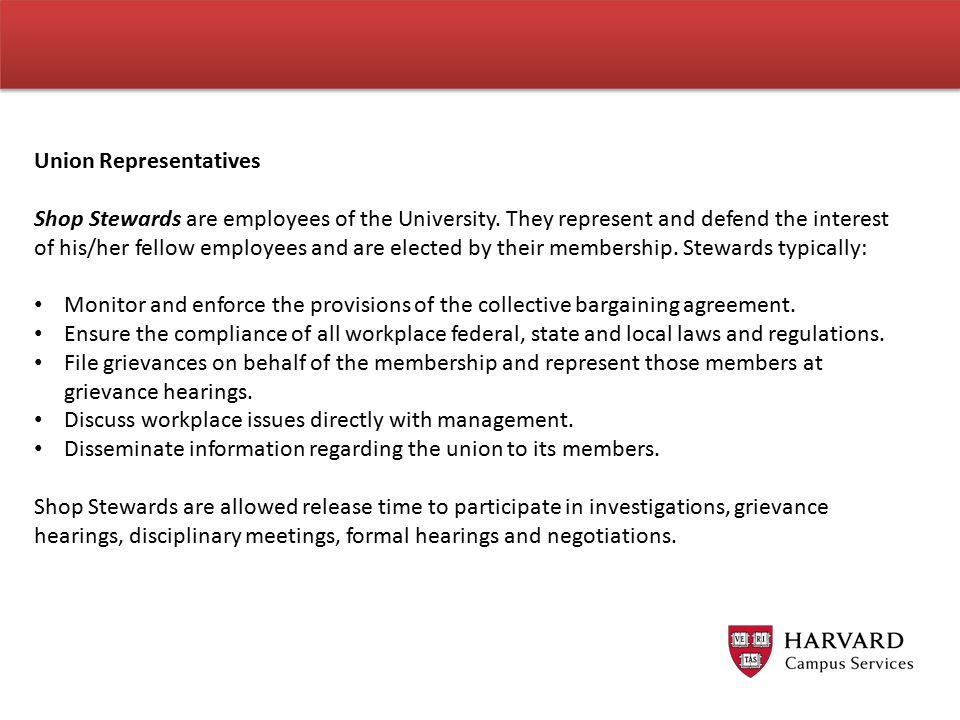 Union Representatives