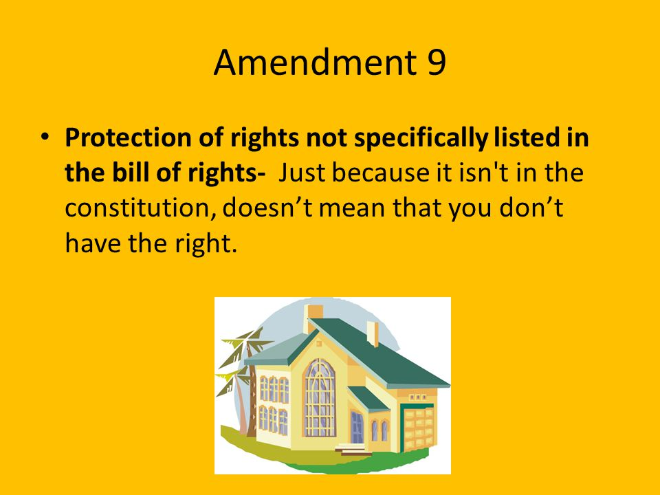 Amendment 9
