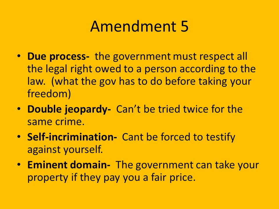 Amendment 5