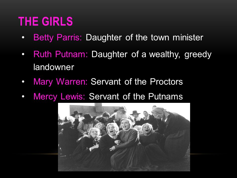 THE GIRLS Betty Parris: Daughter of the town minister