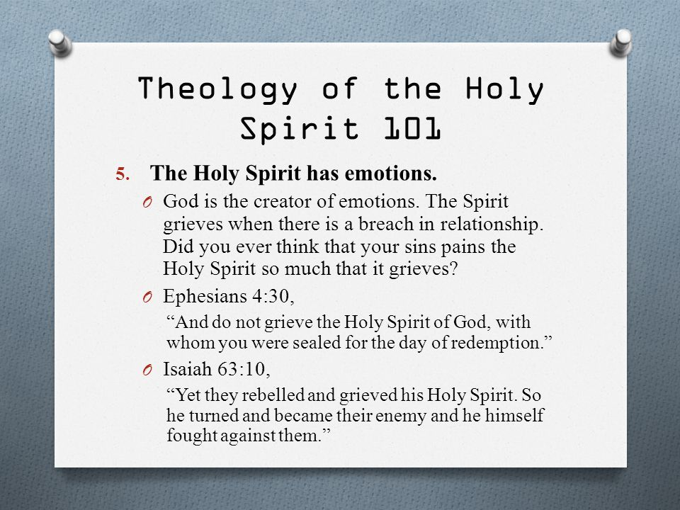 Theology of the Holy Spirit 101
