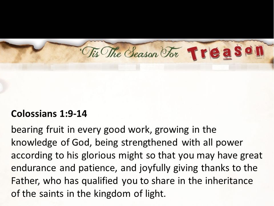 Colossians 1:9-14