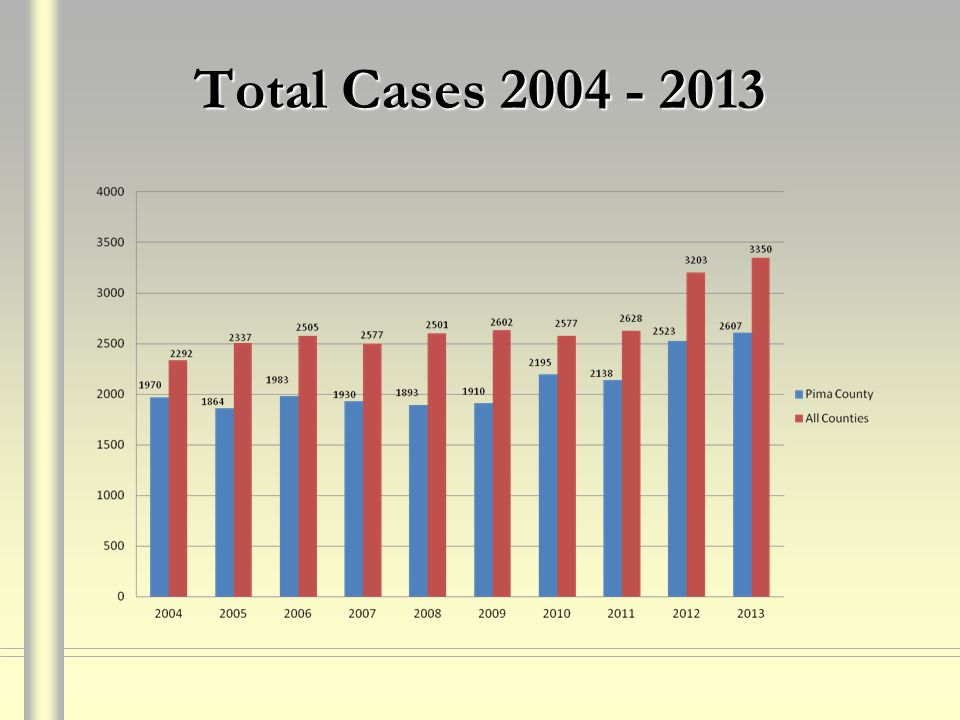 Total Cases 2004 - 2013