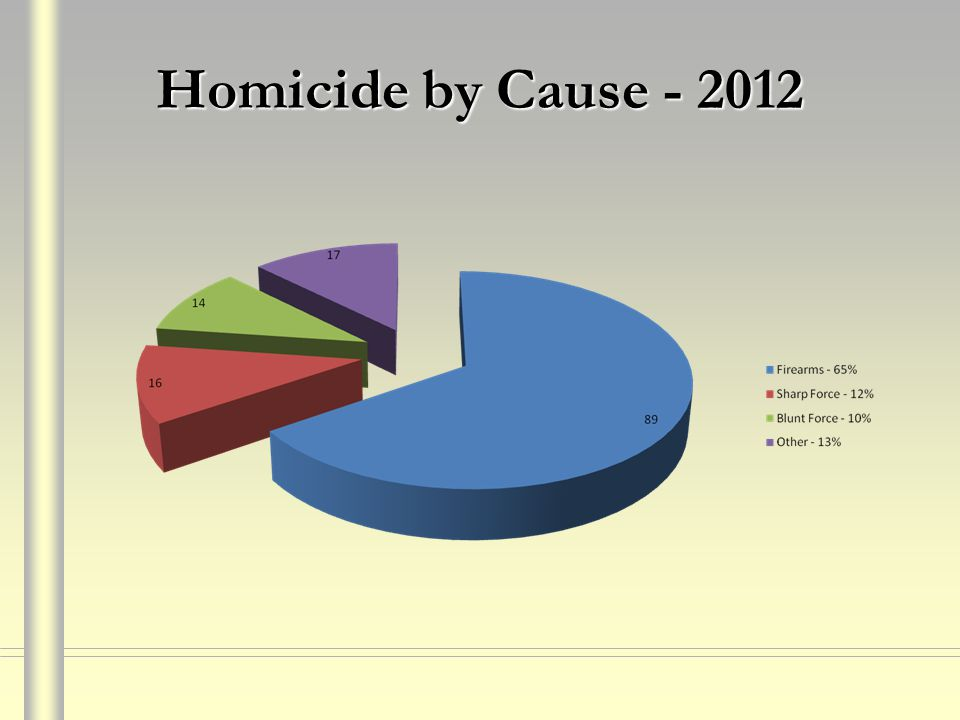 Homicide by Cause - 2012