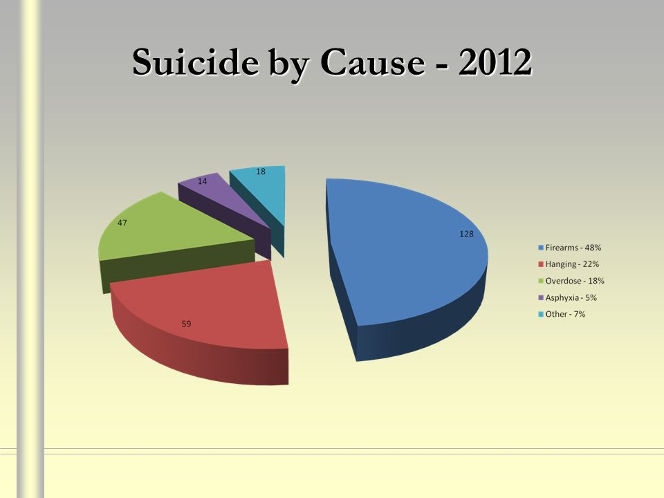 Suicide by Cause - 2012