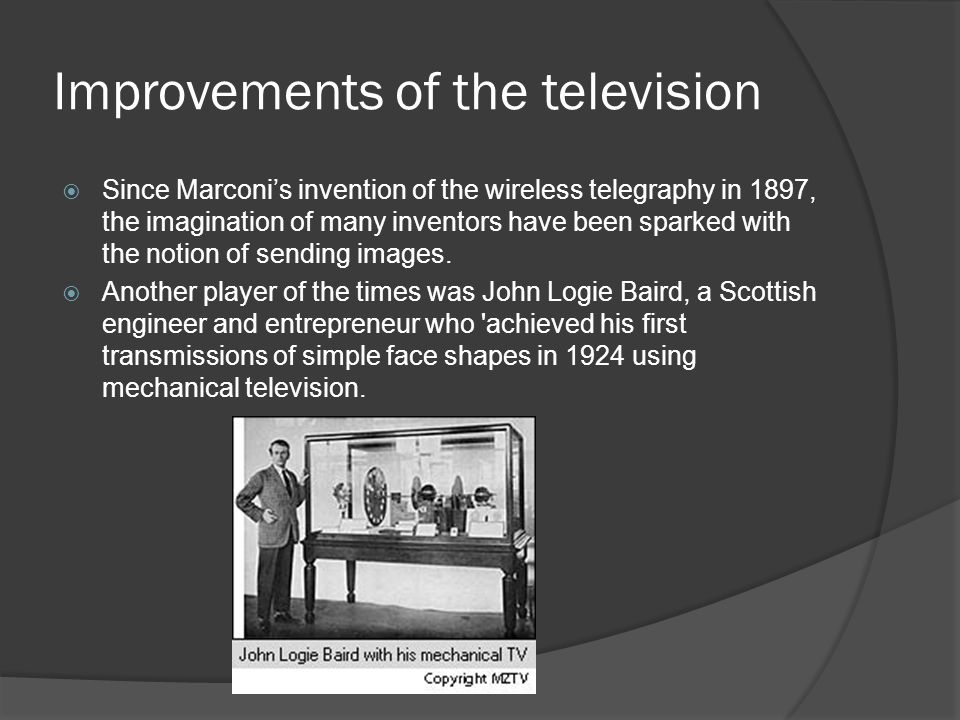 Improvements of the television
