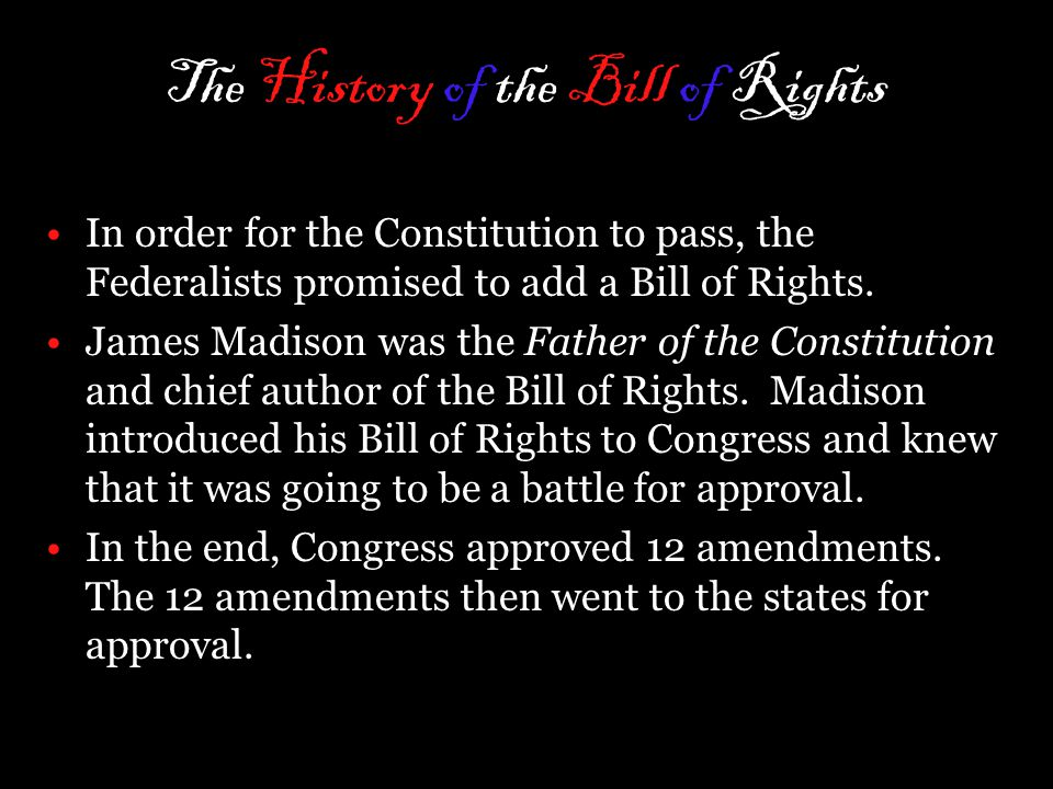 The History of the Bill of Rights