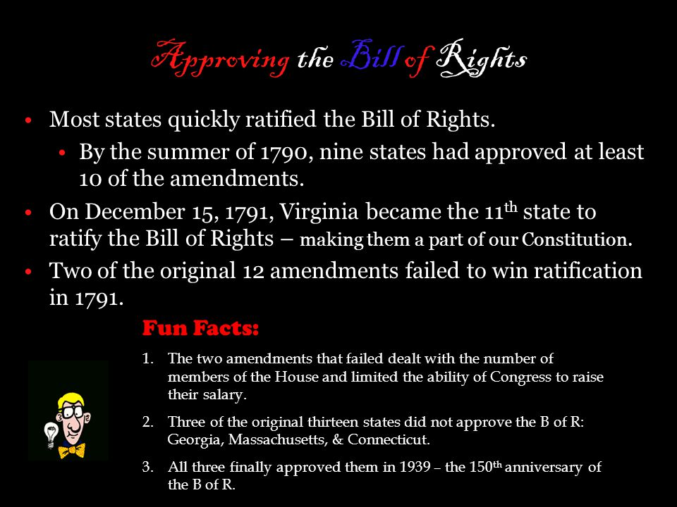 Approving the Bill of Rights