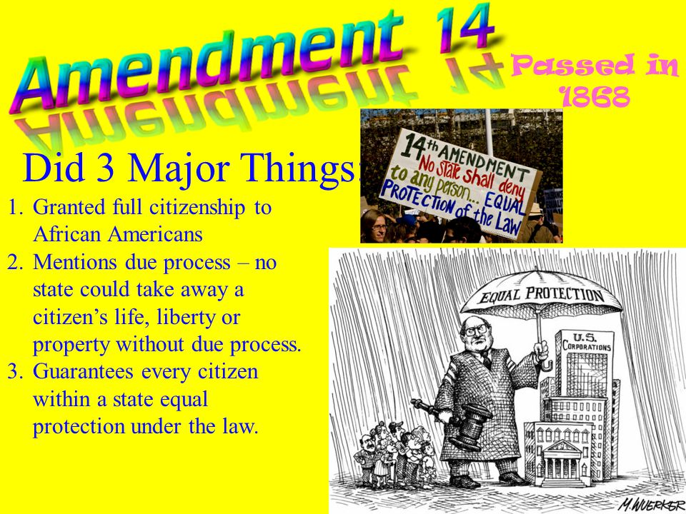 Did 3 Major Things: Passed in 1868