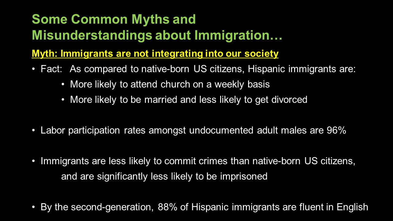 Some Common Myths and Misunderstandings about Immigration…