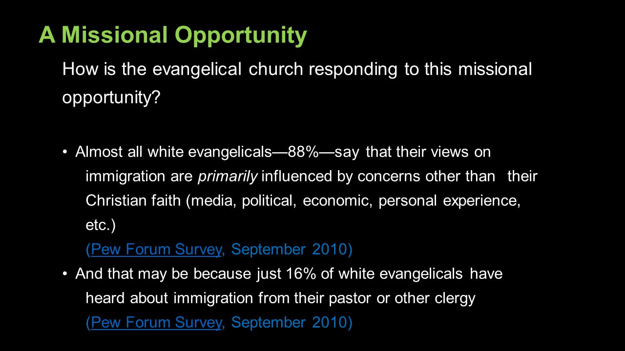 A Missional Opportunity