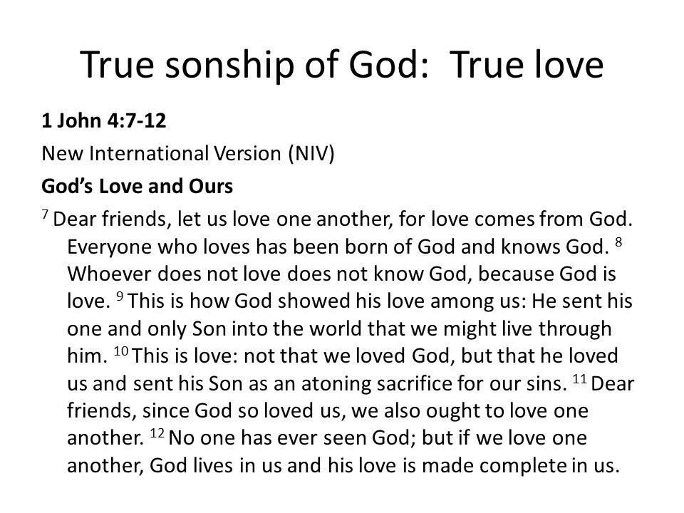 True sonship of God: True love