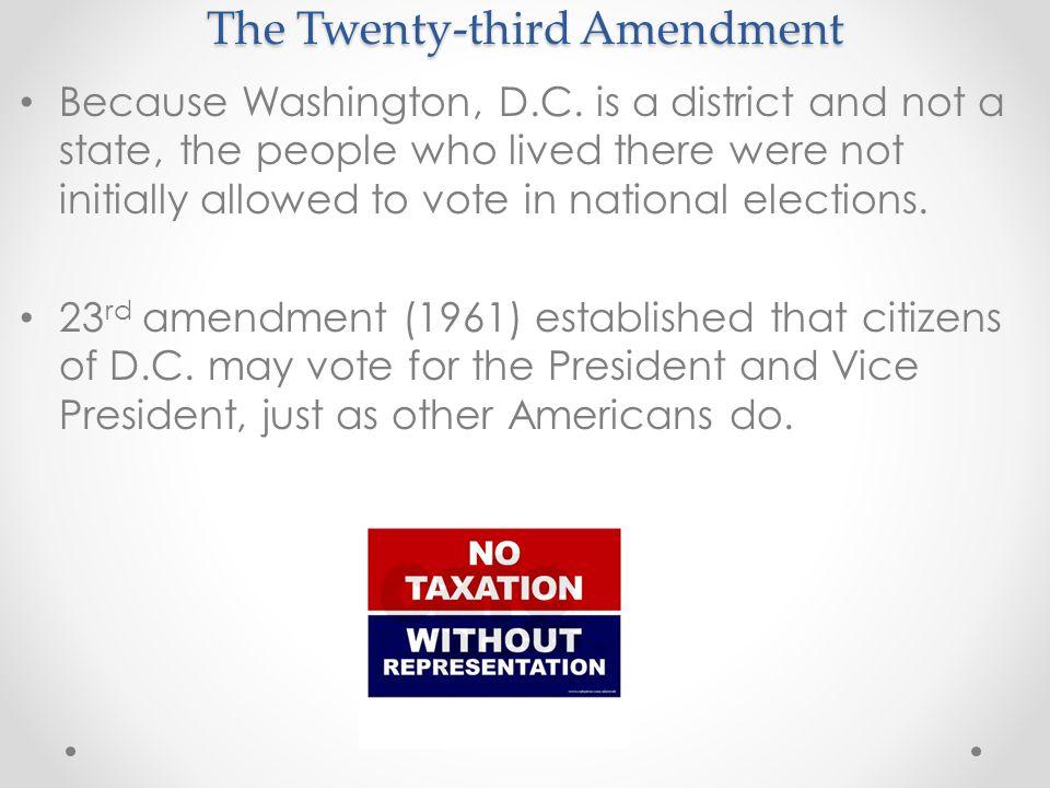 The Twenty-third Amendment