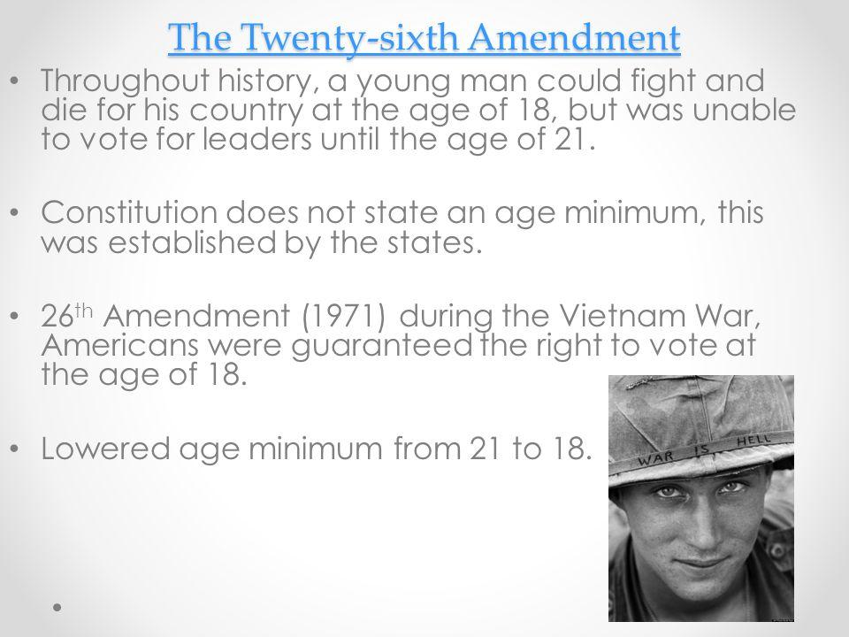 The Twenty-sixth Amendment