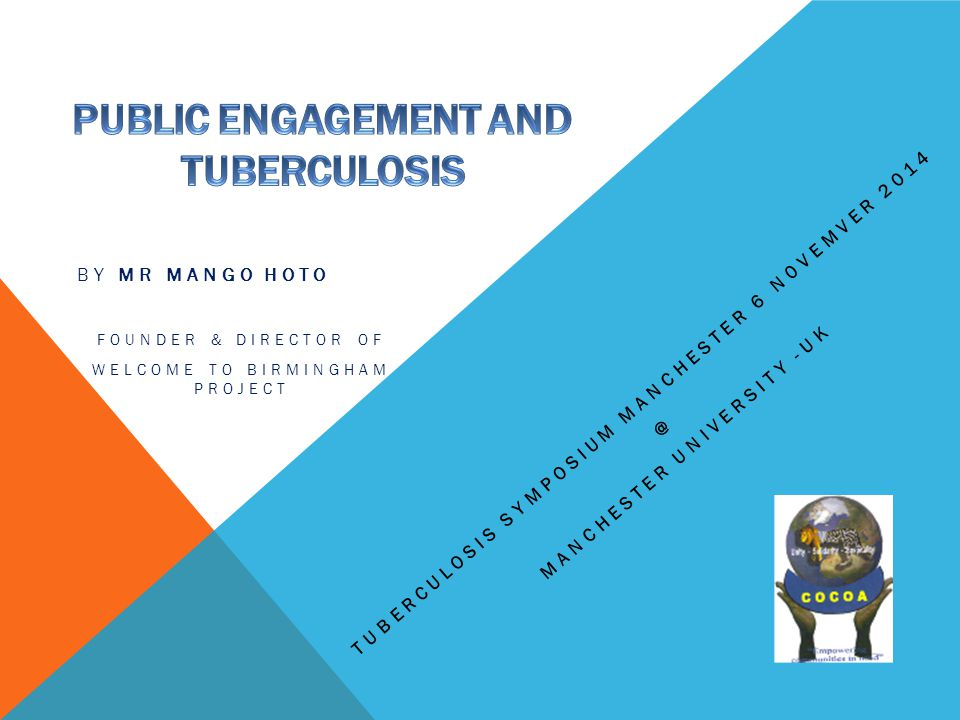 PUBLIC ENGAGEMENT AND TUBERCULOSIS