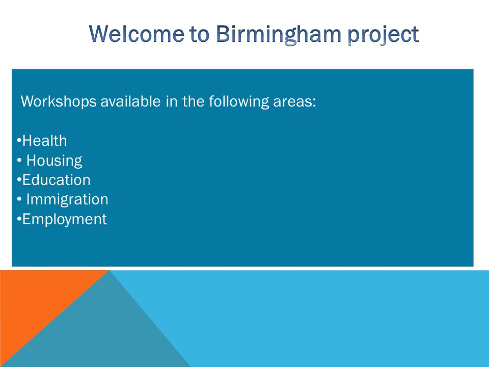 Welcome to Birmingham project