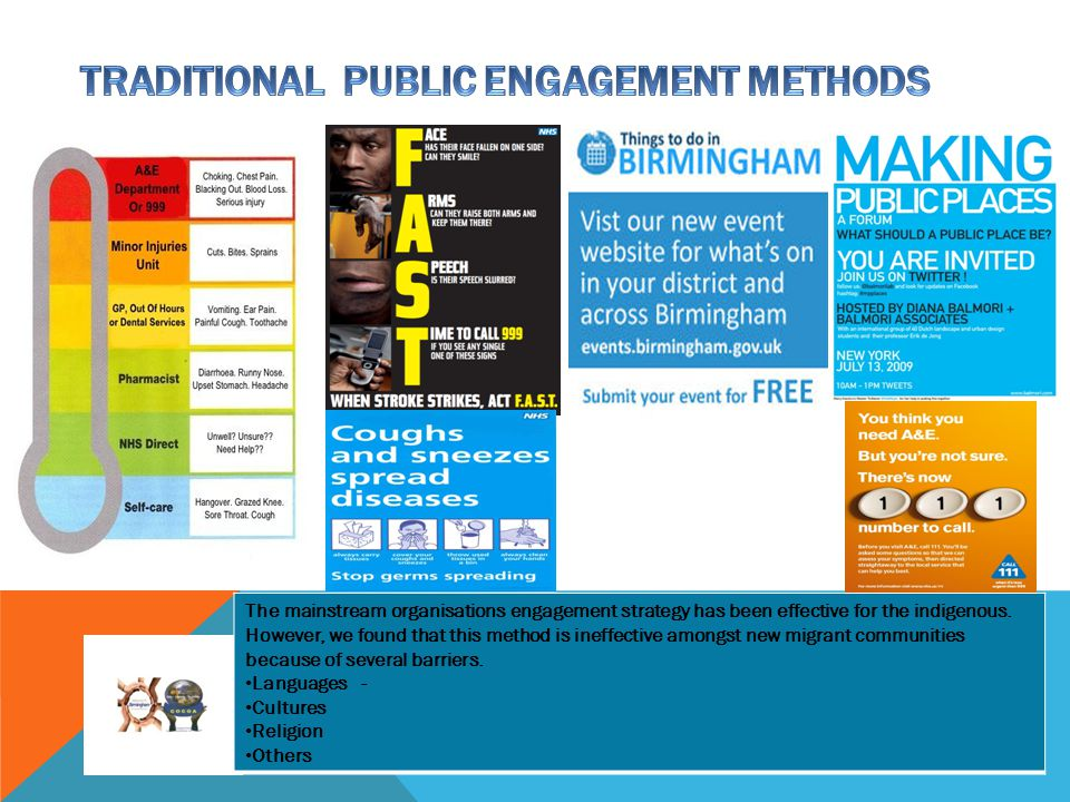 TRADITIONAL PUBLIC ENGAGEMENT METHODS
