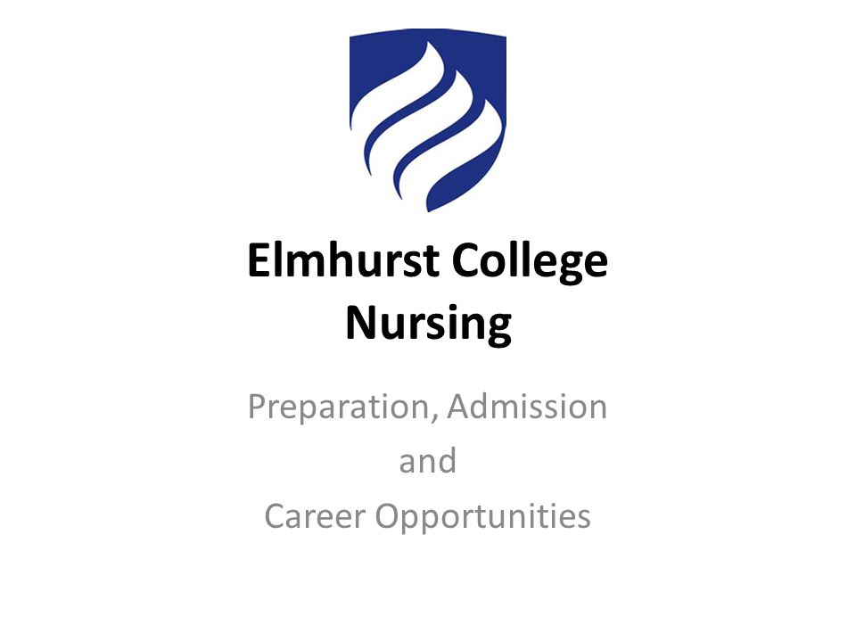 Elmhurst College Nursing