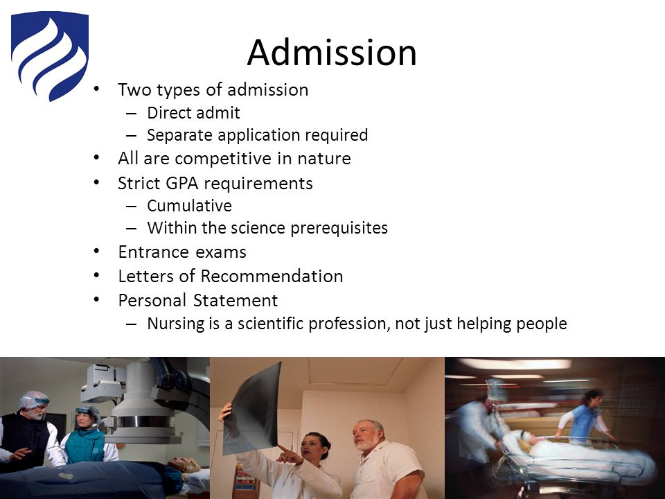 Admission Two types of admission All are competitive in nature