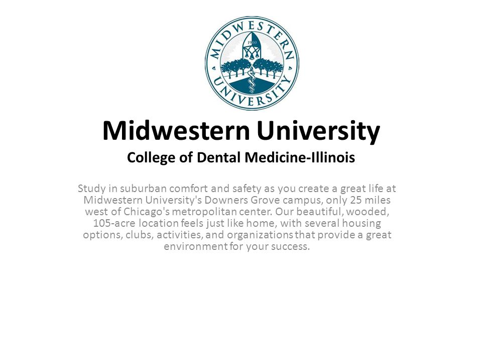 Midwestern University College of Dental Medicine-Illinois