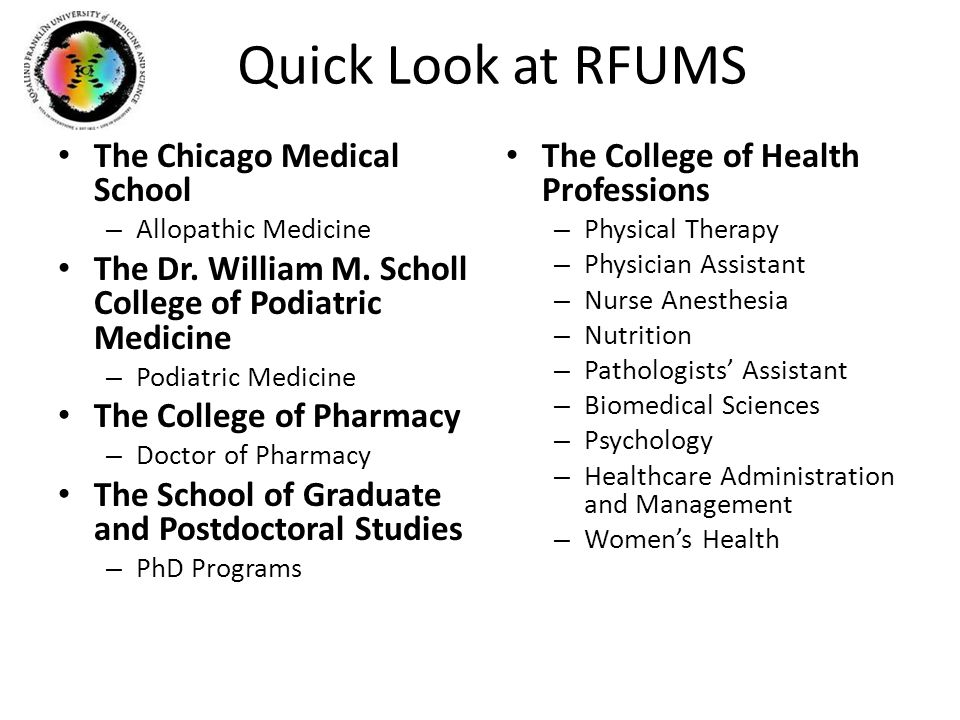 Quick Look at RFUMS The Chicago Medical School