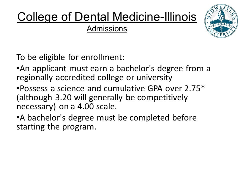 College of Dental Medicine-Illinois Admissions