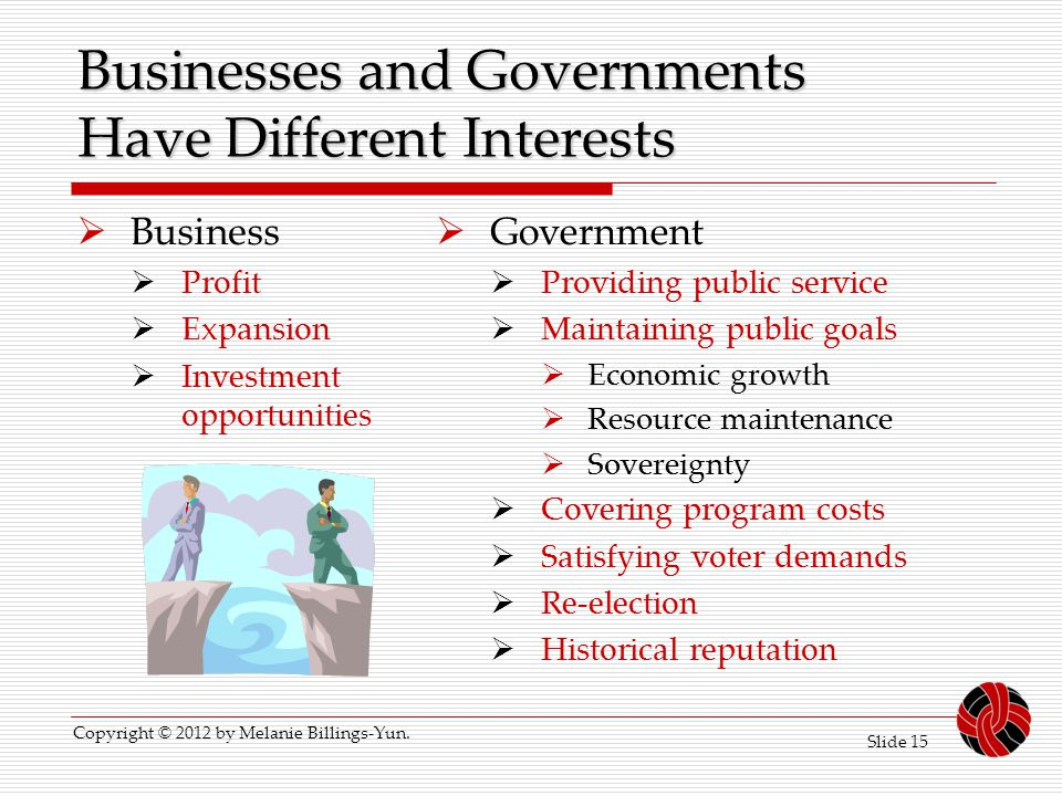 Businesses and Governments Have Different Interests