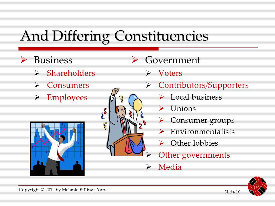 And Differing Constituencies