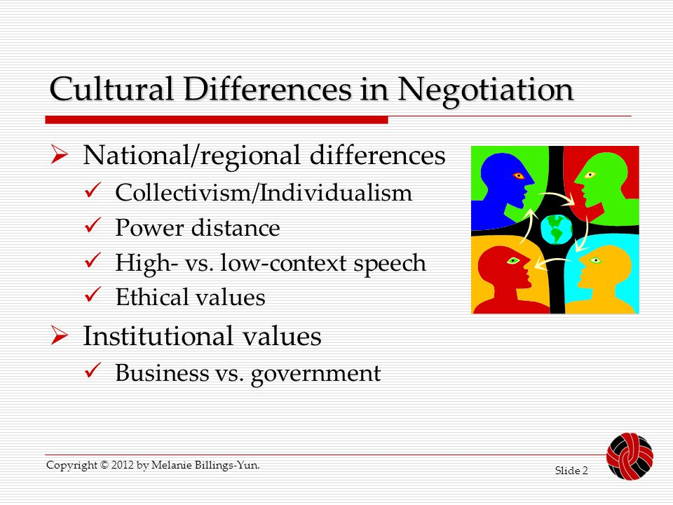 Cultural Differences in Negotiation