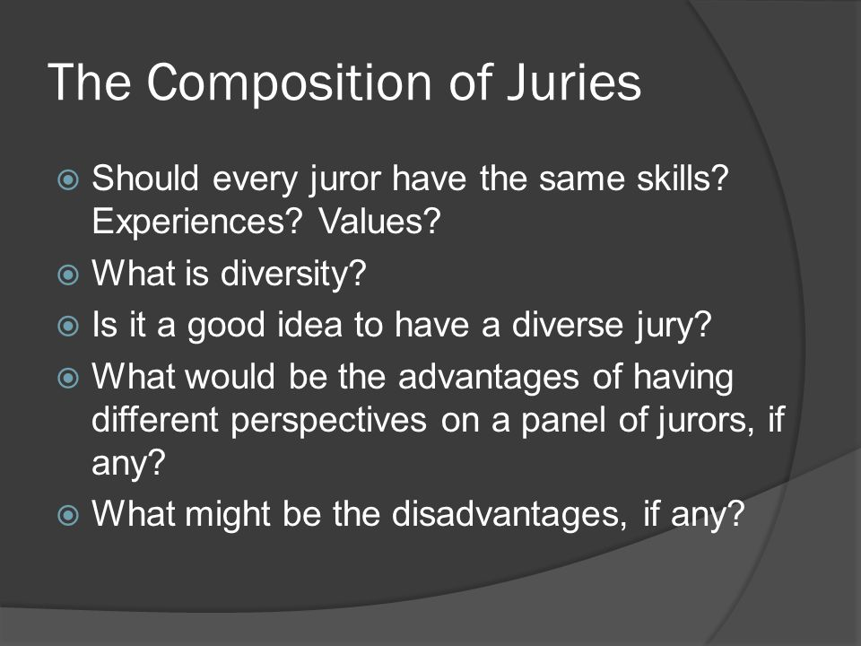 The Composition of Juries