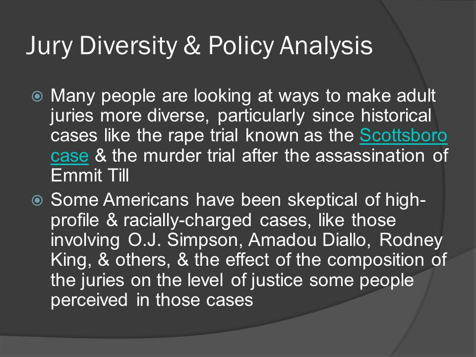 Jury Diversity & Policy Analysis