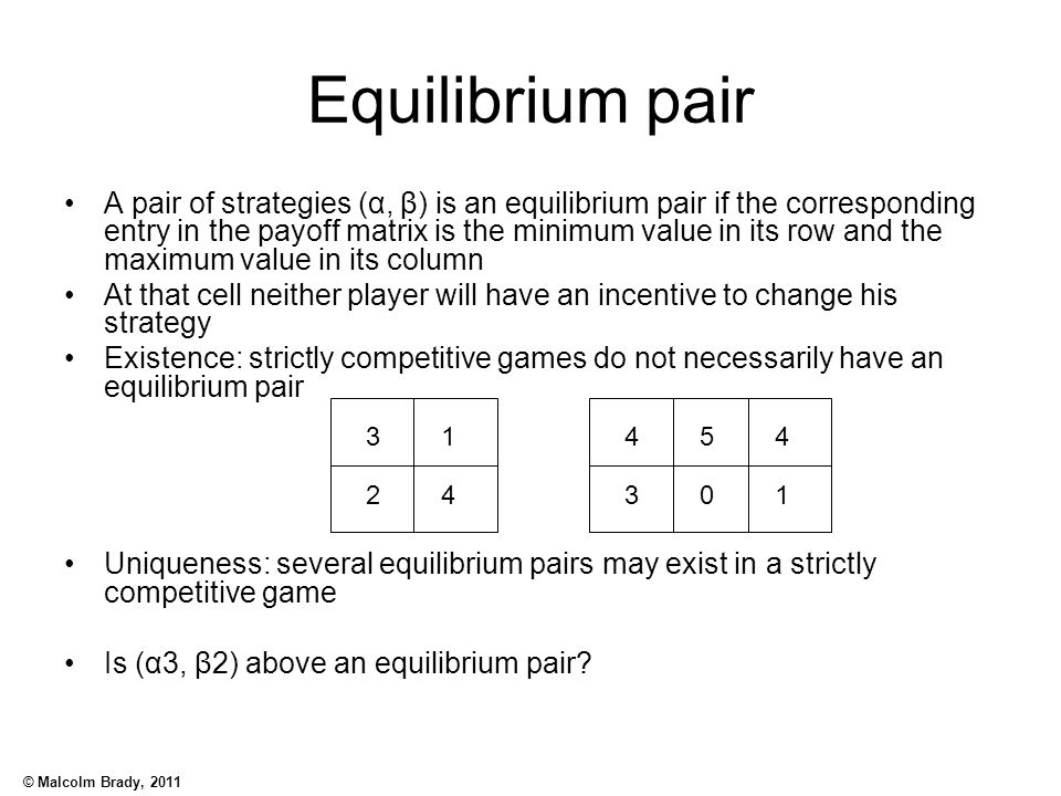 Equilibrium pair
