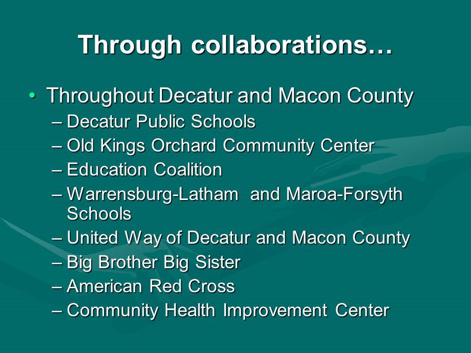 Through collaborations…