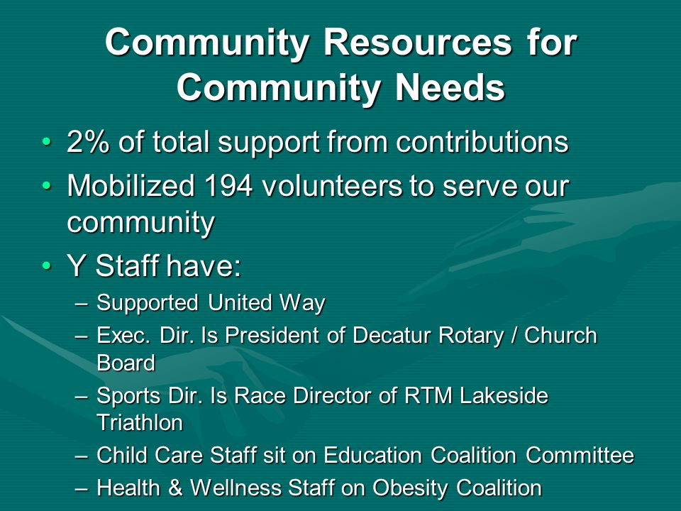 Community Resources for Community Needs