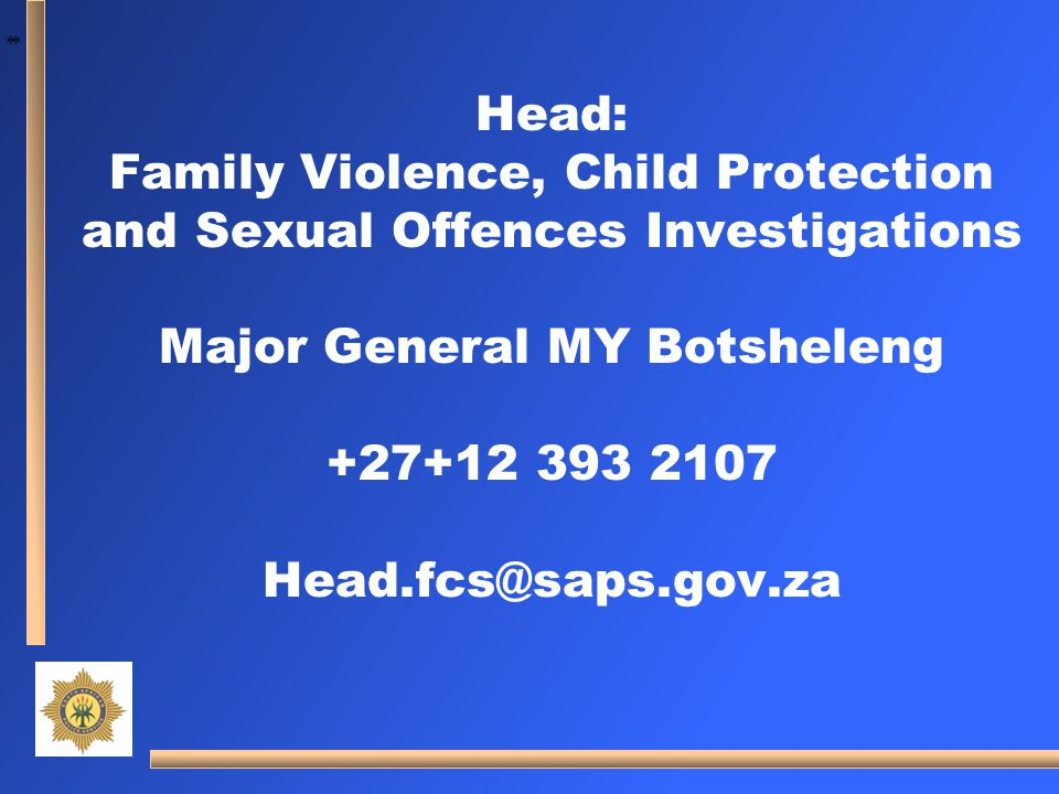 Family Violence, Child Protection and Sexual Offences Investigations