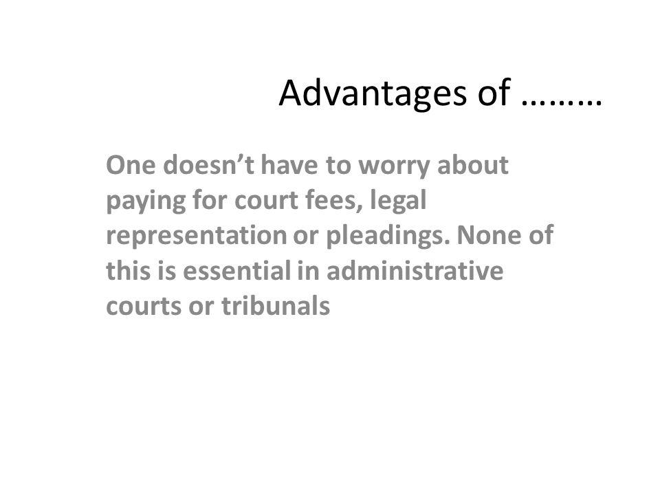 Advantages of ………