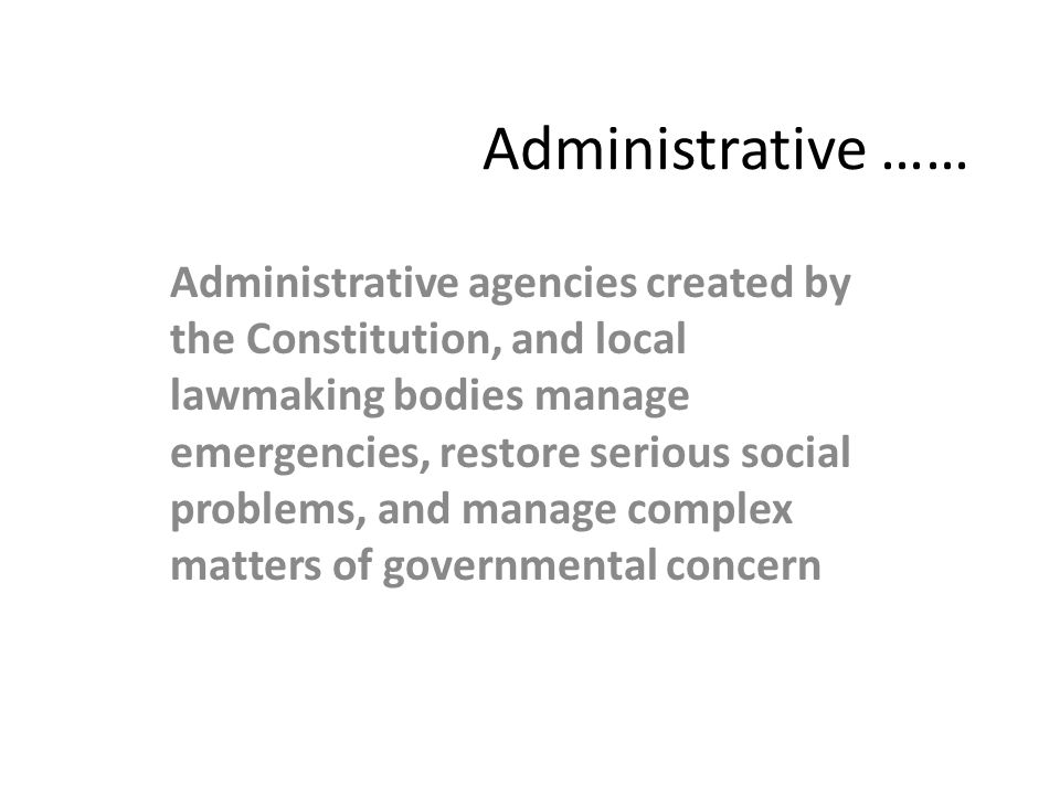 Administrative ……